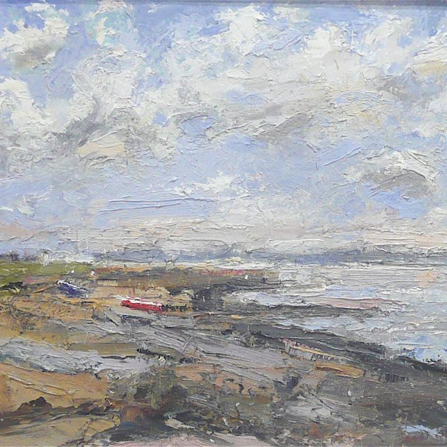 'Blustery Day: Lytham St. Annes' (2012) 41cm x 51cm. Oil on Board. POA