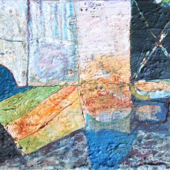 'Landscape - Hebden Bridge'. 41cm x 51cm. Oil on Canvas. Signed verso. Please Enquire.