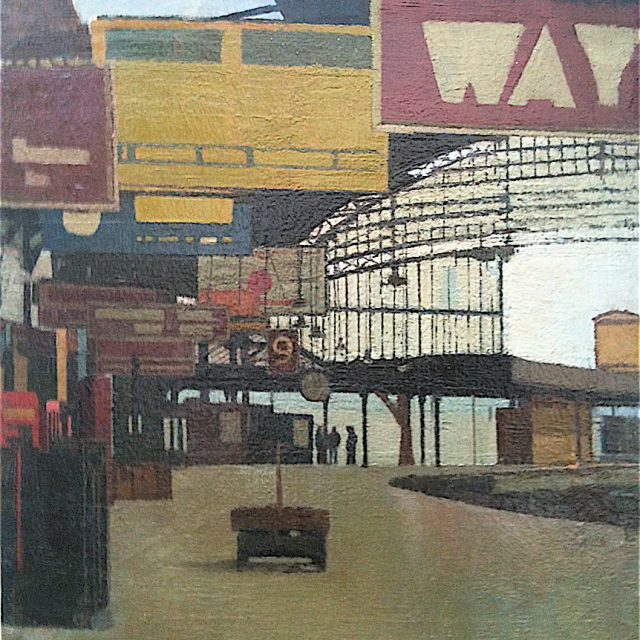'Temple Meads Station, Bristol' by AMC Lovell. Oil on Canvas. 60cm x 60cm. POA