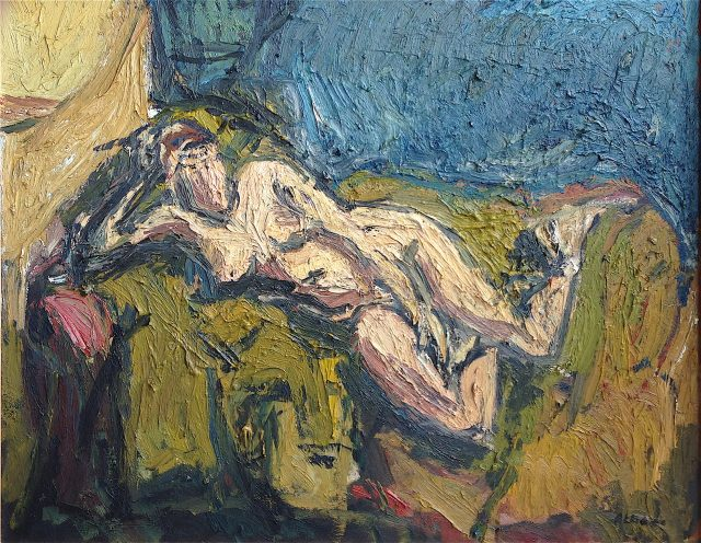 'Reclining Nude' (1991). Oil on Canvas. 92cm x 74cm POA.