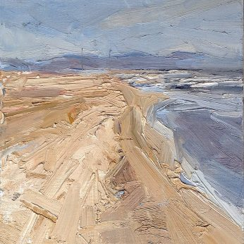 'Early Evening: Formby Point' (2011). 30cm x 24cm. Oil on Board. SOLD