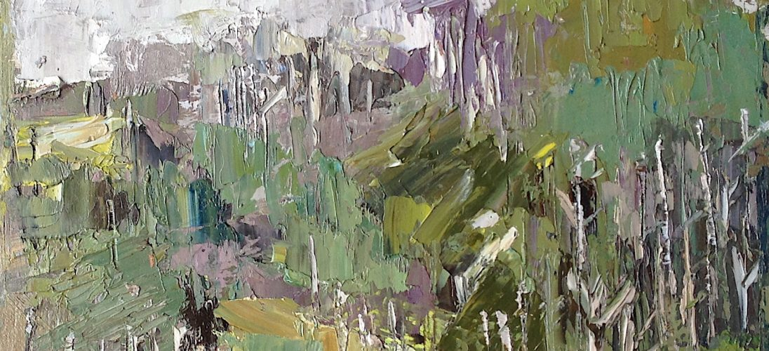 'Abstract Landscape, Anglesey' (2012). 24cm x 30cm. Oil on Board. POA