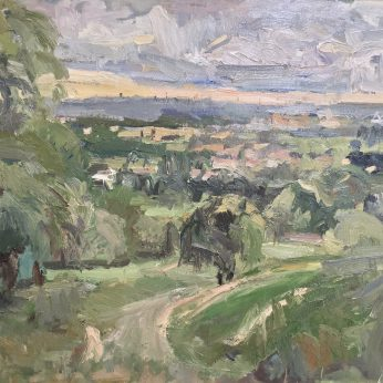 'Duxon Hill' (2010). Oil on Canvas. 76cm x 101cm. SOLD