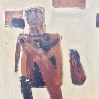 'Figure II' (1962). 127cm x 101cm. Oil on Canvas. POA.