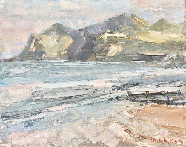 'Lynn Peninsular' (2011). Oil on Board. 24cm x 30cm. POA