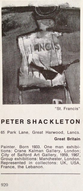 Peter Shackleton (1933 - )
