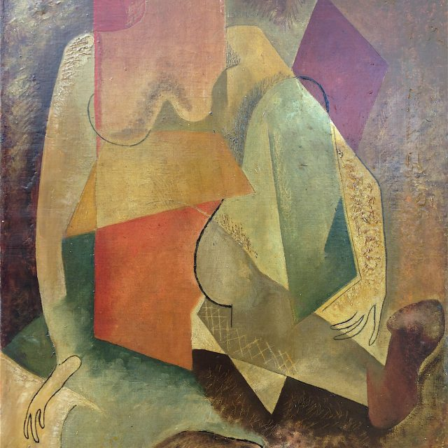 'Abstract Figure' 48cm x 38cm Oil on Canvas. POA