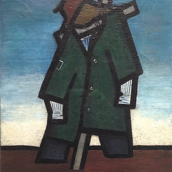 'Scarecrow' (1948) 40cm x 30cm. Oil on Canvas. SOLD