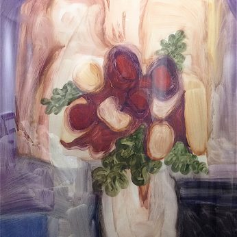 'Flowers in a Jug'. Oil on Paper. 72cm x 57cm. POA