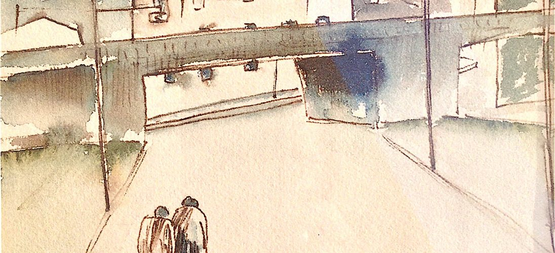 'Chester Road' (1963) by William Turner. Watercolour, pen and ink on paper. POA