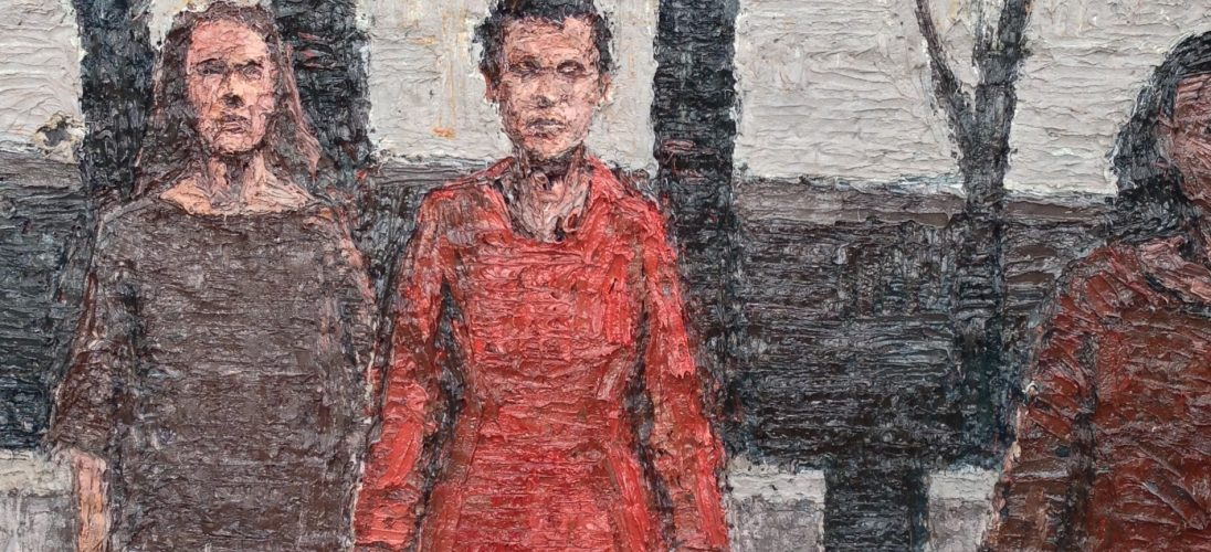 'Red Dress'. Oil on Board. 114cm x 76cm. Please Enquire.