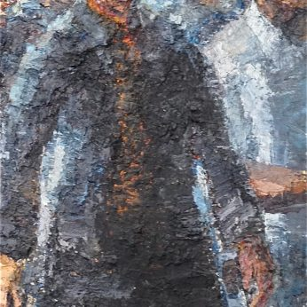 'Commute II'. Oil on Board. 195cm x 74cm. POA