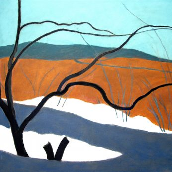 'Landscape with Melting Snow' (1970). Oil on Canvas. 101cm x 126cm. Signed verso. Please Enquire.
