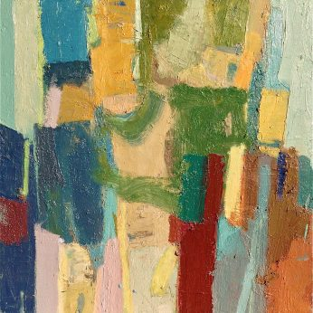 'Figures by the Sea I' (1993). Oil on Board. 61cm x 61cm. POA
