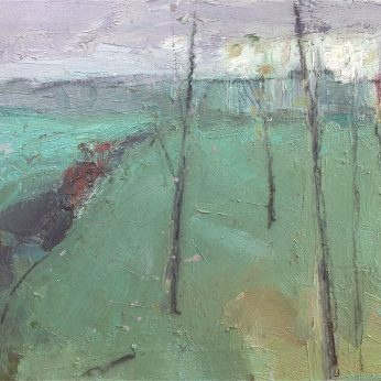 'Landscape with Horse' (1991). Oil on Canvas. 46cm x 61cm. POA