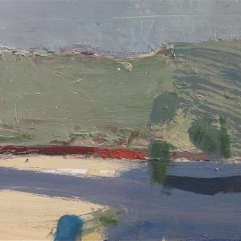 'Beach Landscape' (2011). Oil on Board. 25cm x 30cm. POA