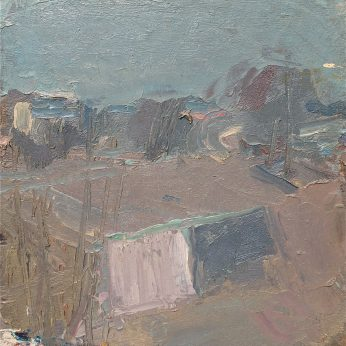 'Winter Landscape' (1993). Oil on Canvas on Board. 40cm x 40cm. POA