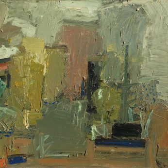'Abstract Garden Study'. (1982). 82cm x 92cm Oil on Canvas Title TBA. Please Enquire