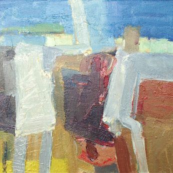 'Summer Conversation'(2011). Oil on Canvas. 30cm x 35cm. POA