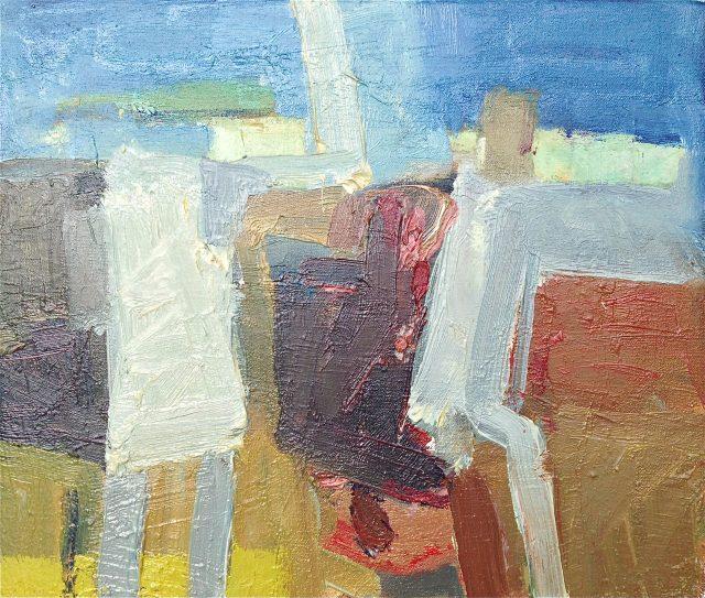 'Summer Conversation'(2011). Oil on Canvas. 30cm x 35cm. POA