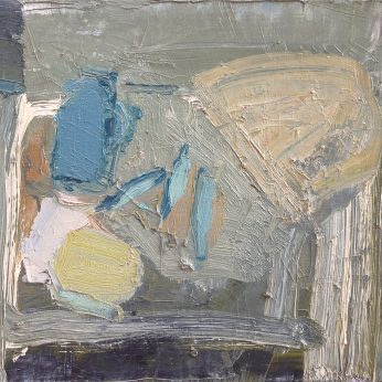 'Fishes and Loaf' (1988). Oil on Canvas. 35cm x 40cm. SOLD