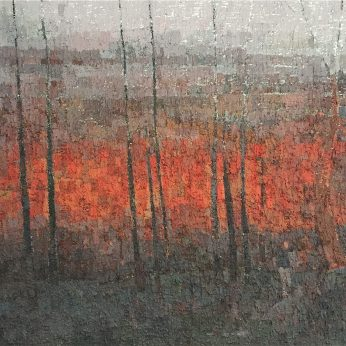 'Trees at the Edge of an Ancient City'. 112cm x 142cm. Oil on Canvas. POA
