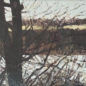 'River Ouse Landscape I'. 35cm x 40cm. Oil on Board. POA