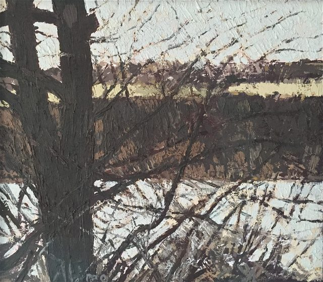 'River Ouse Landscape I'. 35cm x 40cm. Oil on Board. POA