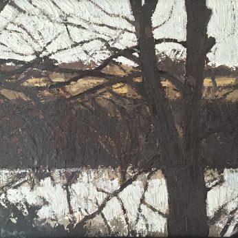 'River Ouse Landscape II'. 35cm x 40cm. Oil on Board. POA