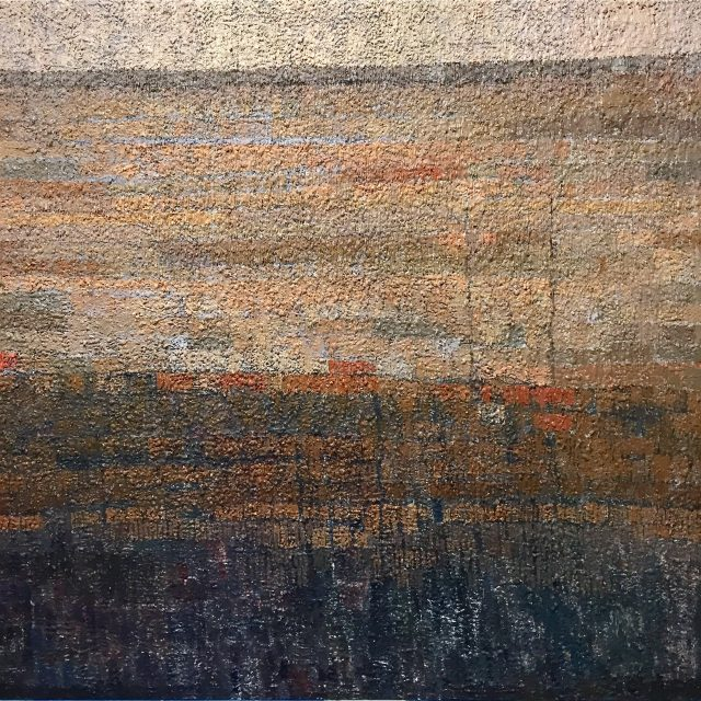'Extensive View Across an Ancient City II'. Oil on Board. 183cm x 183cm. POA