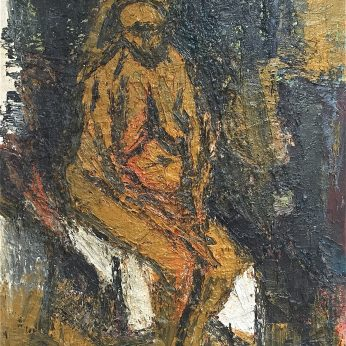 'Nude Sitting'. Oil on Canvas. 123cm x 92cm. POA