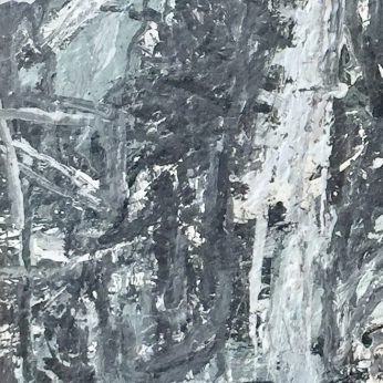 'Looking Down the Island I'. Oil on Board. 74cm x 25cm. POA
