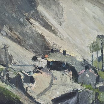 'Greenside, Glenridding.' Oil on Board. 61cm x 79cm. Signed verso. SOLD