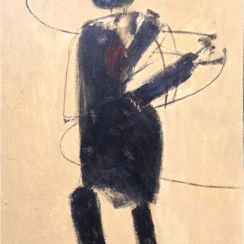 'Figure I' (1962). Oil on canvas. 101cm x 126cm. Signed. SOLD.