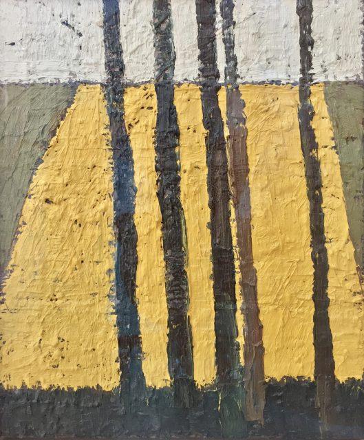 'Five Trees - Summer'. Oil on Board. 31cm x 26cm. POA