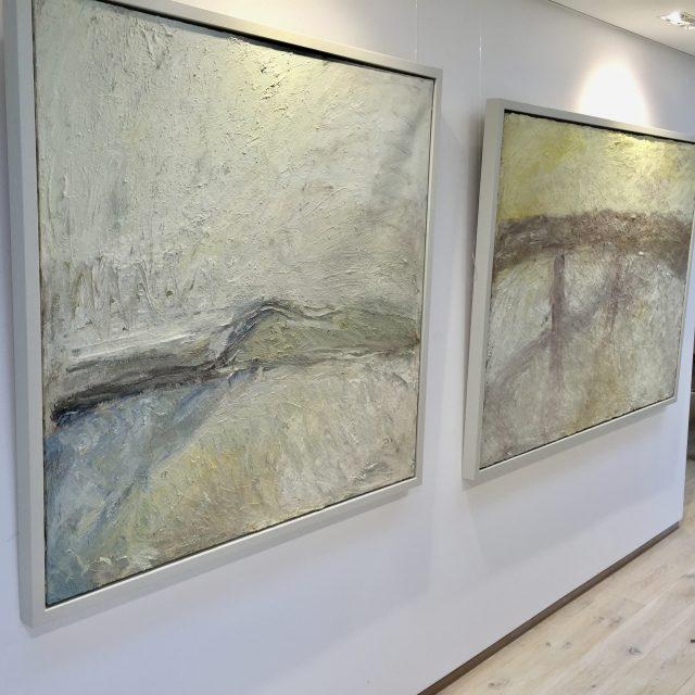 'Perranuthnoe Beach' (2005) & 'Figures in Evening Light' (2000).