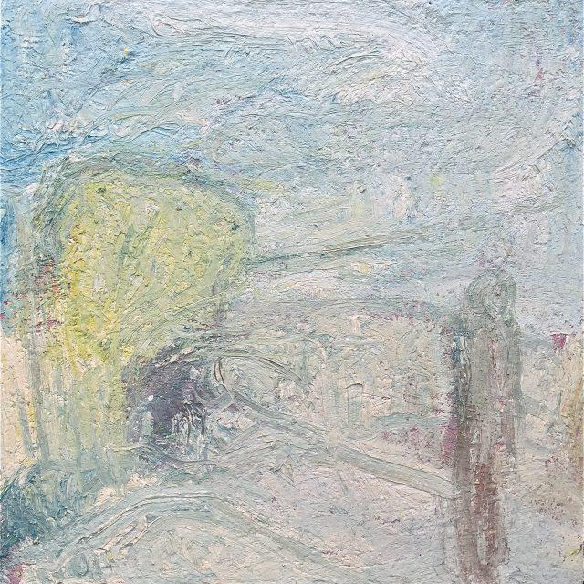 'Partou at Manaccan' (1999). Oil on Canvas. 92cm x 92cm. POA