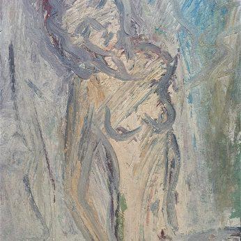 'Reclining Nude - Corrina' (2003). Oil on Board. 123cm x 87cm. POA