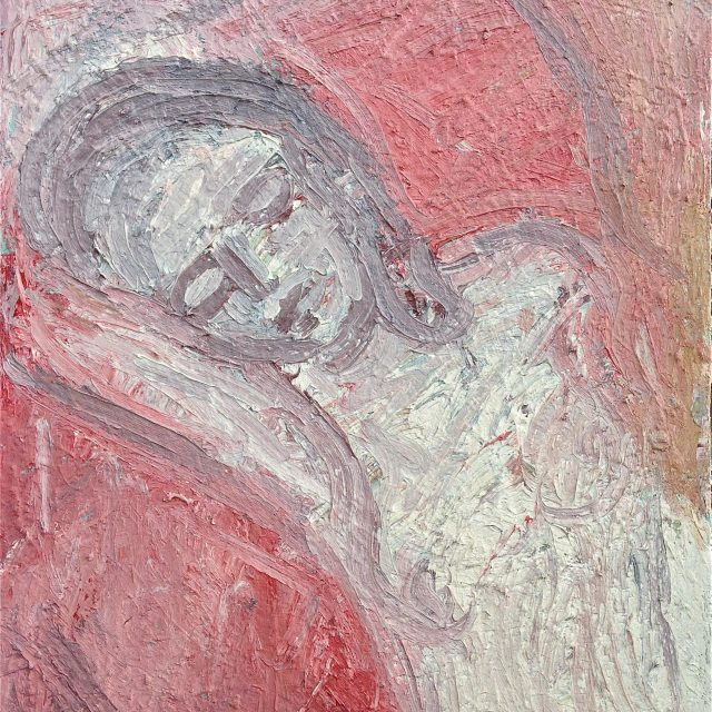'Nude with a Red Drape.' (2003). Oil on Canvas. 91cm X 77cm. POA