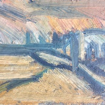 'View Above Newlyn' (1983). Oil on Board. 92cm x 109cm. POA
