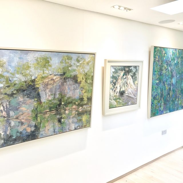 'Duxon Quarry - Spring (2015) & Borrowdale Yews II (2014) & 'I Know a Bank Where The Wild Thyme Blows' (2016 - SOLD)