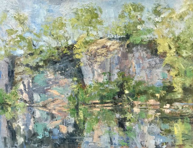 'Duxon Quarry - Spring (2015). Oil on Board. 94cm x 122cm. POA