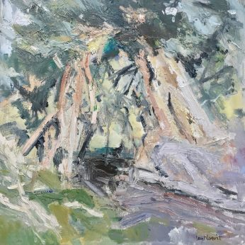 'Borrowdale Yews II (2014). Oil on Board. 60cm x 60cm. POA