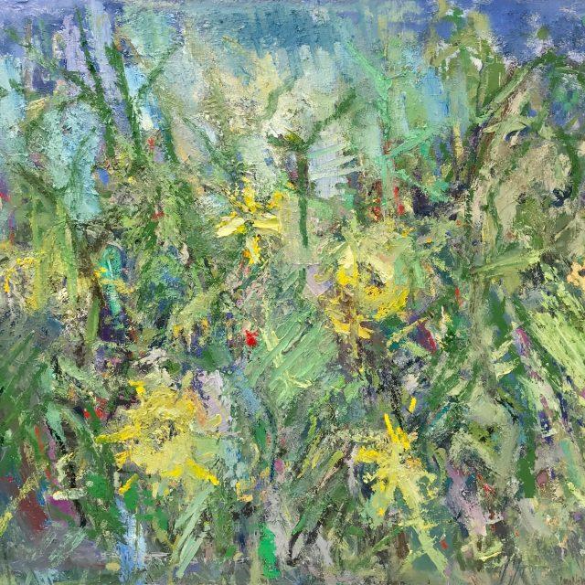 'Sunflowers III' (2016). Oil on Board. 100cm x 110cm. POA