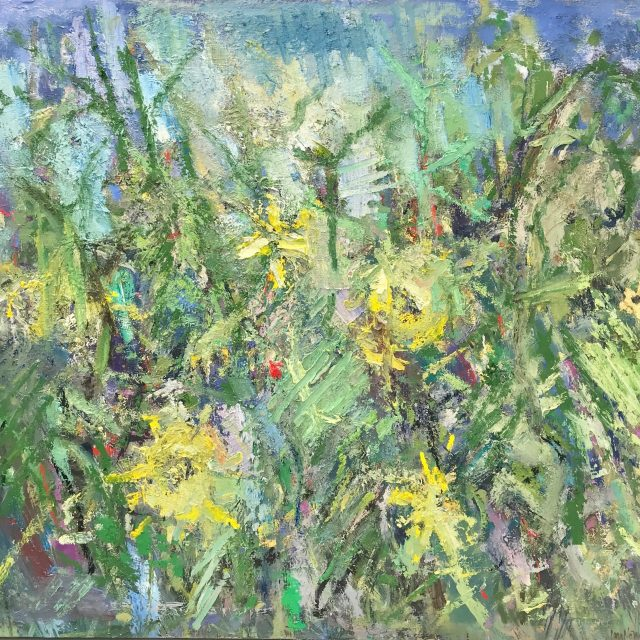 'Sunflowers III' (2016). Oil on Board. 100cm x 110cm. POA