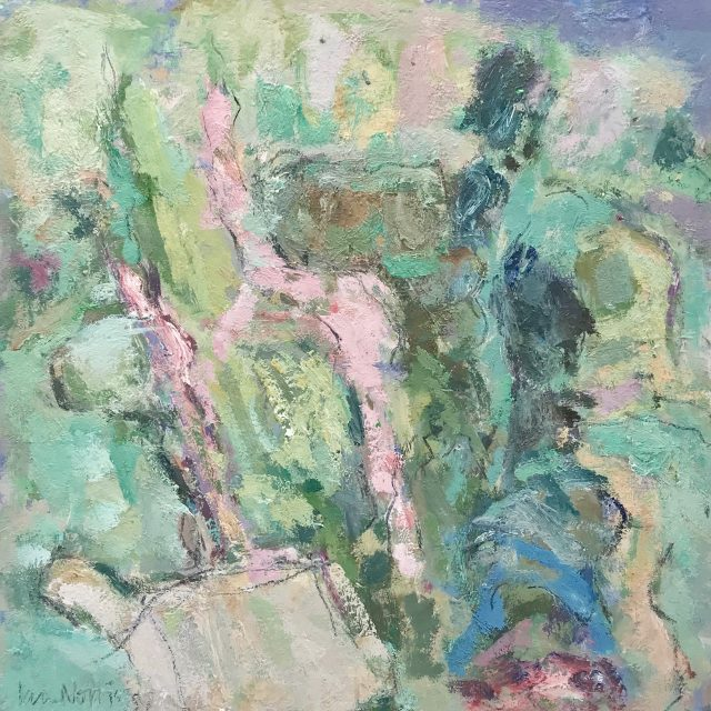 'Path Through the Sand Dunes' (2016). Oil on Paper. 28cm x 23cm behind non-reflective glass. POA
