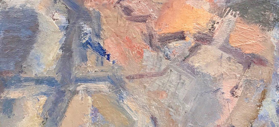 'Sea Dunes Study' (2016). Oil on Card. 35cm x 33cm behind non-reflective glass. POA.