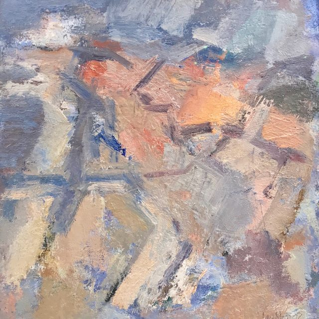 'Sea Dunes Study' (2016). Oil on Card. 35cm x 33cm behind non-reflective glass. POA.