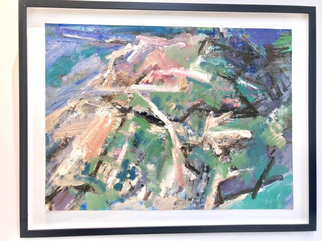 'Formby Sand Dunes' (2016). Oil on Paper. 53cm x 72cm. POA