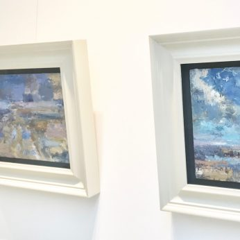 'Ainsdale - Pale Light' (2016) & 'Purple Cloud' (2016) & 'Summer Clouds' (2016). ALL SOLD